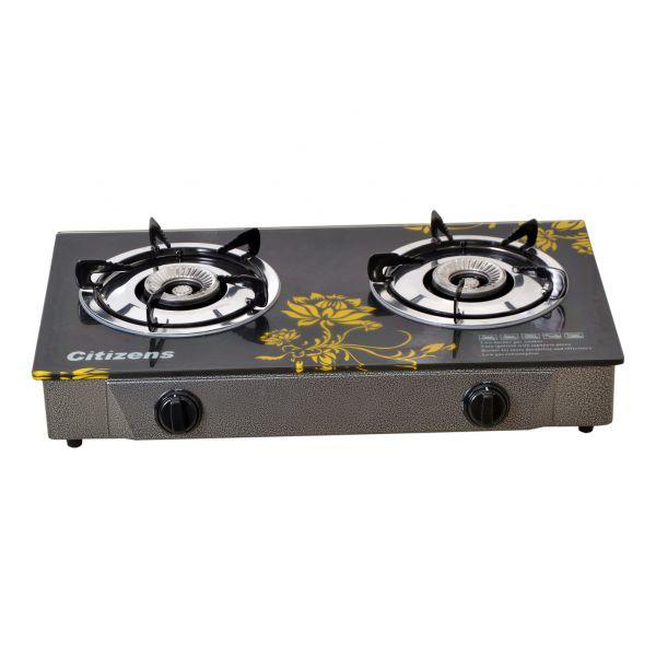 Citizens 2 Burner Table Top Glass Gas Cooker Ctgc 2
