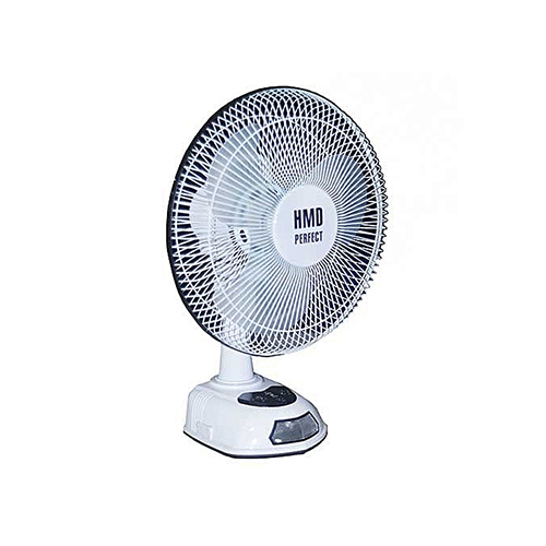 HMD Perfect 12inch Rechargeable Table Fan CR-8801 | Deluxe