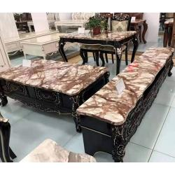 Set Of TV Stand With Centre Table And Dining Table With Marble Top