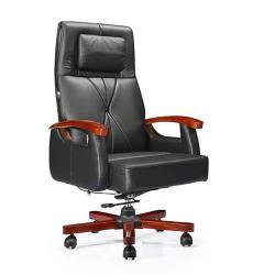 DELUXE EXECITIVE OFFICE CHAIR|LEATHER DEL 211