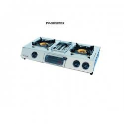 Polystar 2 burner gas stove with grill PV-GRS87BX - deluxe.com.ng