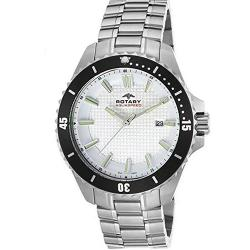 ROTARY AGB00293/06 MEN'S AQUASPEED STAINLESS STEEL WHITE TEXTURED DIAL WATCH