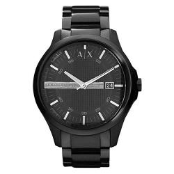ARMANI EXCHANGE AX2104 MEN'S HAMPTON BLACK DIAL, BLACK BRACELET WATCH