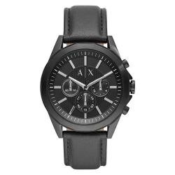 ARMANI EXCHANGE AX2627 DREXLER MEN'S CHRONOGRAPH BLACK LEATHER WATCH