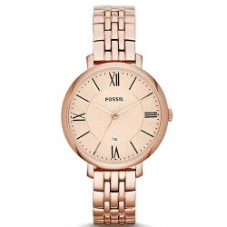 FOSSIL ES3435 WOMEN'S JACQUELINE ROSE GOLD STAINLESS STEEL WATCH