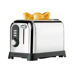 Sainsbury'S Sainsbury Home 2 Slice Stainless Steel Popup Toaster