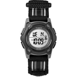 TIMEX T7C264 TIME MACHINE KIDS' DIGITAL DOUBLE LAYER FABRIC BLACK,GRAY WATCH