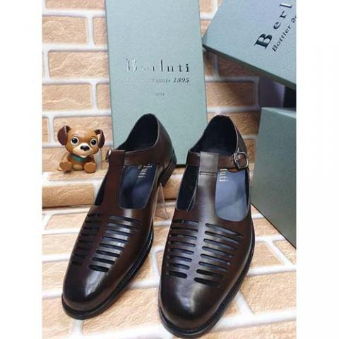 BERLUTI  HIGH QUALITY LUXURY MEN'S SHOE (AVAILAIBLE IN ALL SIZES) 373