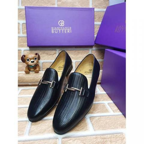 GIANFRANCO BUTTERI HIGH QUALITY LUXURY MEN'S SHOE (AVAILAIBLE IN ALL SIZES 374