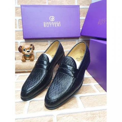 GIANFRANCO BUTTERI HIGH QUALITY LUXURY MEN'S SHOE (AVAILAIBLE IN ALL SIZES) 379