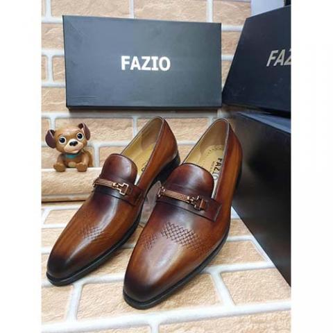 FAZIO HIGH QUALITY LUXURY MEN'S SHOE (AVAILAIBLE IN ALL SIZES) 384