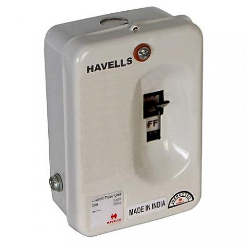 Havells 20A Switch Fuse Unit,Control Switch, Splitter Unit
