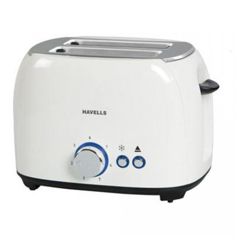 Havells Crust 800 Watt Pop-up Toaster - White