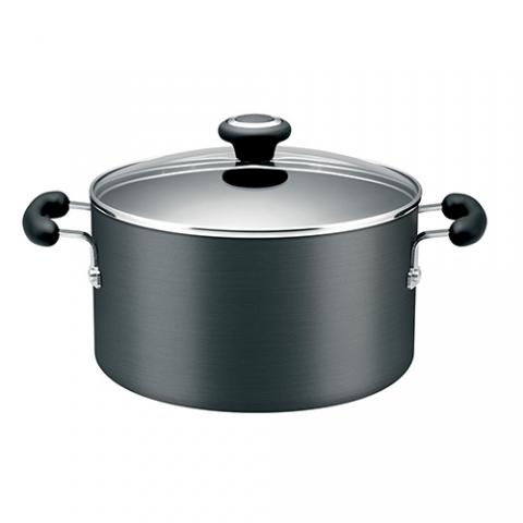 Create 24cm/7.6L hard anodized covered stockpot