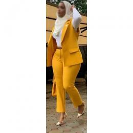LADIES POSH ATTIRE|YELLOW (AVAILABLE IN ALL SIZES)