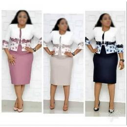 LADIES EXTRAVAGANT FITTED CORPORATE SKIRT AND BLOUSE (AVAILABLE IN ALL SIZES)