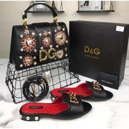 D&G DESIGNER WOMEN'S HAND BAG AND FOOT WEAR