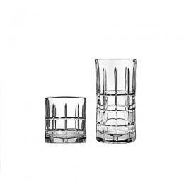 Anchor Manchester 16-Piece Glassware Set – Silver