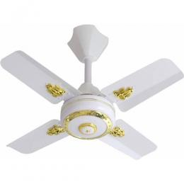 SONIK Short Blade 25 inch Ceiliing Fan - White & Brown