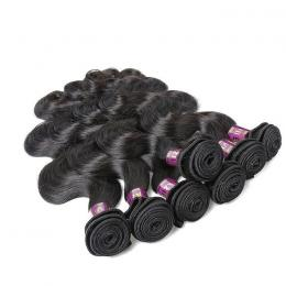 "18"" Machine weft Bodywave Hair (1B - Off Black)"
