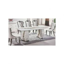 Marble Atlantana Exqusite Set Dining + 8 Sitting Chairs