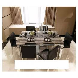 Marble Dinning Set Furniture + 6 Dining Chairs