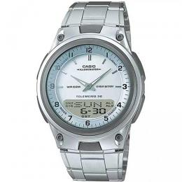 CASIO AW80D-7AV MEN'S ANA-DIGI SILVER DIAL BRACELET SMALL SIZE WATCH