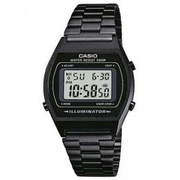 CASIO GENTS B640WB-1ADF METAL BASIC VINTAGE BLACK BRACELET WATCH