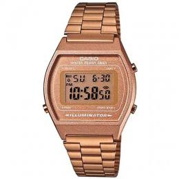 CASIO UNISEX B640WC-5ADF ROSE GOLD STAINLESS STEEL BAND DIGITAL WATCH