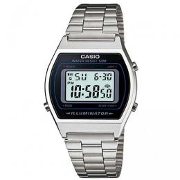 CASIO B640WD-1AVDF MEN'S SILVER VINTAGE DIGITAL BRACELET WATCH