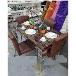 Marble Dining Table Sittings Chairs By Six Seater