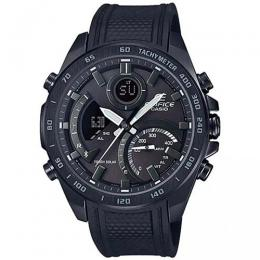 CASIO ECB-900PB-1ADR MEN'S EDIFICE CHRONO BLACK BEZEL RESIN BAND WATCH