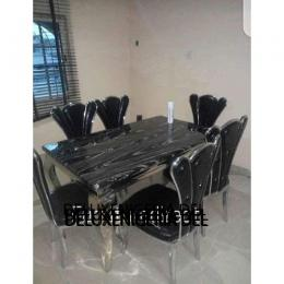 Marble Bisony Dinning Set Furniture + 6 Dining Chairs