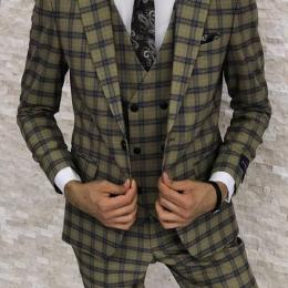CONTEMPORARY STRIPED 3 PIECE MEN'S SUIT|SUT 015 (AVAILABLE IN ALL SIZES)
