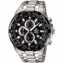 CASIO EF-539D-1AVUDF MEN'S EDIFICE BLACK SILVER CHRONOGRAPH DIAL BRACELET WATCH