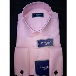BALENCIAGA DESIGNER'S LUXURY VIP PINK MEN'S SHIRT|(AVAILABLE IN ALL SIZES)