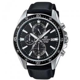 CASIO GENTS EFR-546L-1AVUDF EDIFICE CHRONOGRAPH BLACK LEATHER WATCH