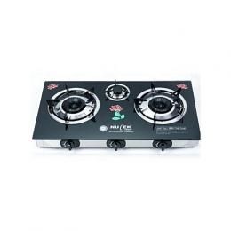Nulek 3 Hob/Burner Glass Table Top Glass Gas Cooker