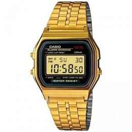 CASIO A159WGEA-1DF UNISEX GOLD RETRO DIGITAL BRACELET WATCH