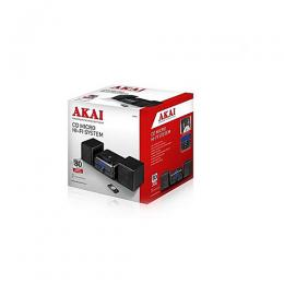 AKAI Micro CD And Radio Hi-Fi System With Alarm Function And Remote With Separate Speakers