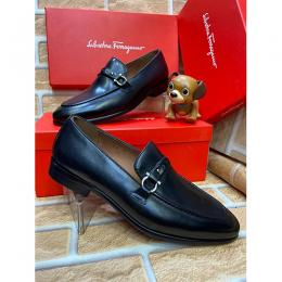 SALVATORE FERRAGOME ITALIA MEN'S LUXURY SHOE|BLACK (AVAILABLE IN ALL SIZES) 264