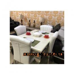 Authentic Marble Dinning With 4 Chairs