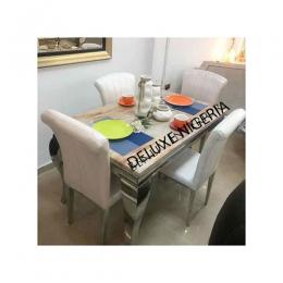 TOP Marble Dining Table + 4 Sitting Chairs