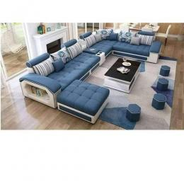 Mak Bento Blue Modular Sectional Sofa+Table