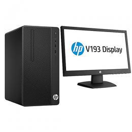 HP 290G1 MICRO TOWER 500/4GB DESKTOP CORE i5 DOS +19 Inch Monitor