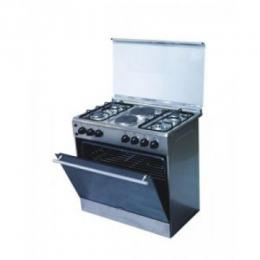 Bruhm 90cm x 60cm 4Gas burner 2hot plate - Gas Cooker - Silver BGC 9642S