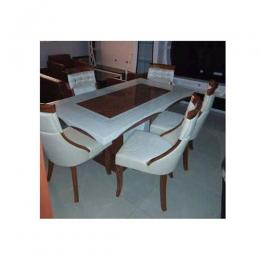 Exquisite Marble Dinning With 6 Chairs