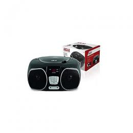 AKAI CD Radio Boombox With AM/FM Radio And LED Display - Black