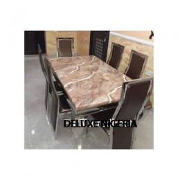 Marble Bentil Dinning Set Furniture + 6 Dinning Chairs