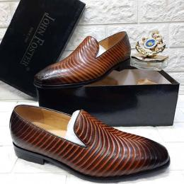 JOHN FOSTER HIGH QUALITY LUXURY MEN'S SHOE (AVAILAIBLE IN ALL SIZES) 297